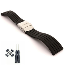 24mm For Suunto Core For Note Rubber / Silica gel Generic Watch Strap / Band +Adapters +Tools цена