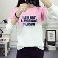 I AM NOT A MORNING PERSON Sweatshirt Women Cotton Gradient Pullover Hoodies Women Sweatshirt Casual Long Sleeve JBW-10195