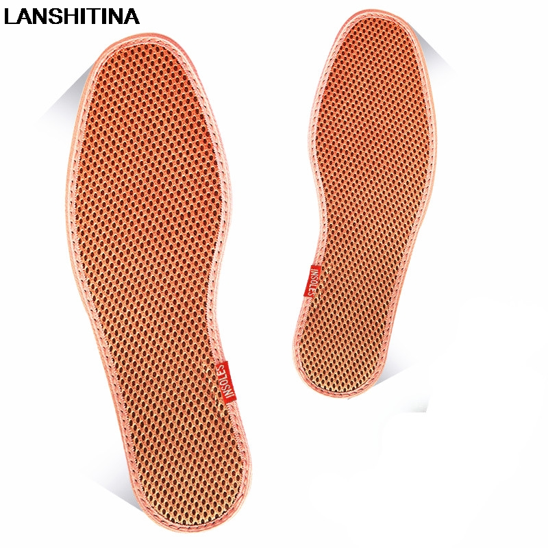 Mesh Bamboo Charcoal Insole Breathable Sweat Deodorant Men Women Shoes Insoles Casual Running Sports Insoles Shoes Accessoires