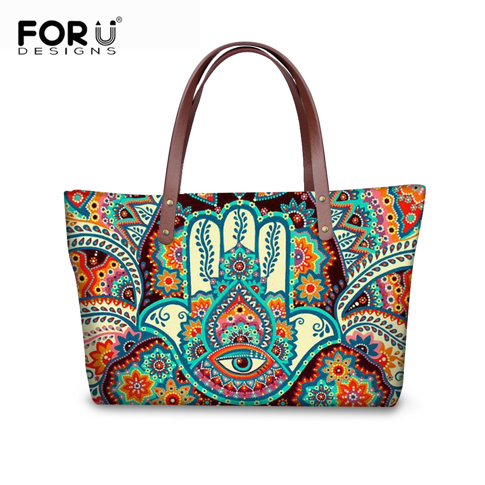 Free Worldwide Shipping The Hand of Fatima Hamsa Patterned Make-up Bag Clutch