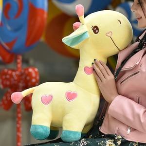 Image 5 - Lalka żyrafa pluszowa zabawka jeleń poduszka poduszka dziecięca