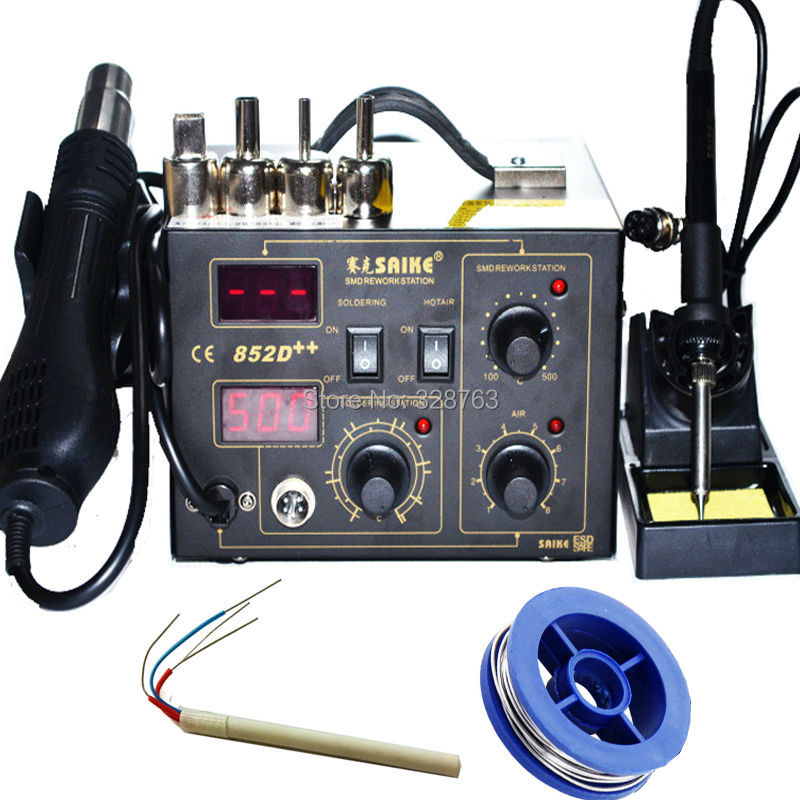 BGA rework station Solder Soldering iron+hot air gun Rework Station Welding table 852D++ Desoldering Station Welding machine