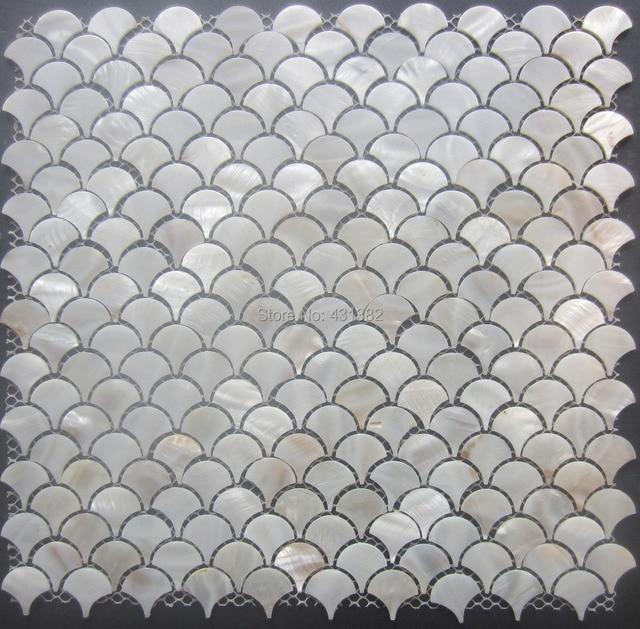 Free Shipping!!mother Of Pearl Tileu0027fan Shaped Shell Mosaic For Wall