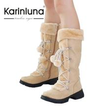 Wholesale 2016 New Hot Fashion sexy ladies' Platform Boots Women Knee High boots winter women shoes fur warm snow boots
