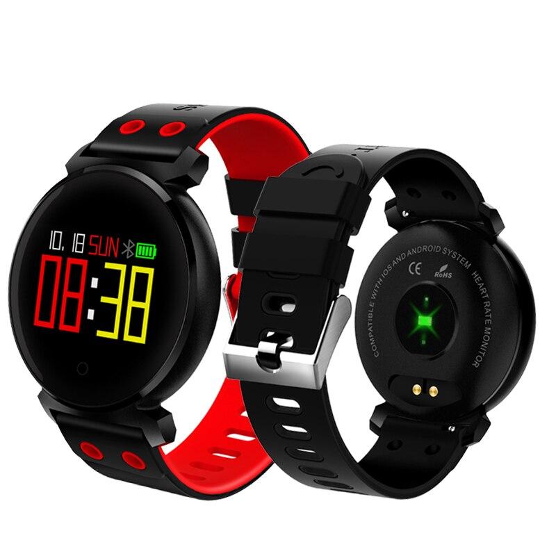 Smart bande K2 Fitness Tracker IP68 Étanche Sang pression d'oxygène moniteur de Fréquence Cardiaque Smart Bracelet Couleur Écran bande