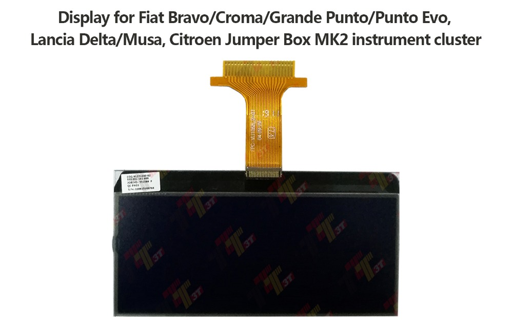 US $109 62 13% OFF|Dashboard LCD Displayer For Citroen Jumper Box MK2 / For  Fiat Bravo / Croma / Lancia Delta Excavator instrument display-in Gauge