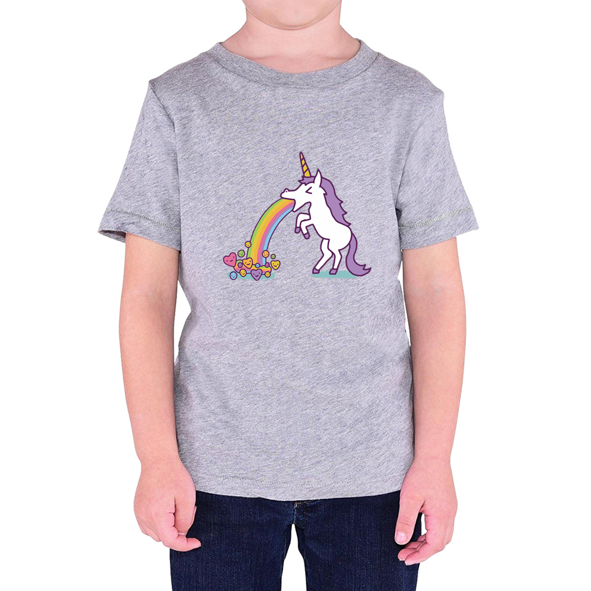 Baby Clothes 2017 Summer T-shirt For Girl Boy Short Sleeve UNICORN Print Fashion Kawaii T-shirts For Girls Boys Child Top Shirt