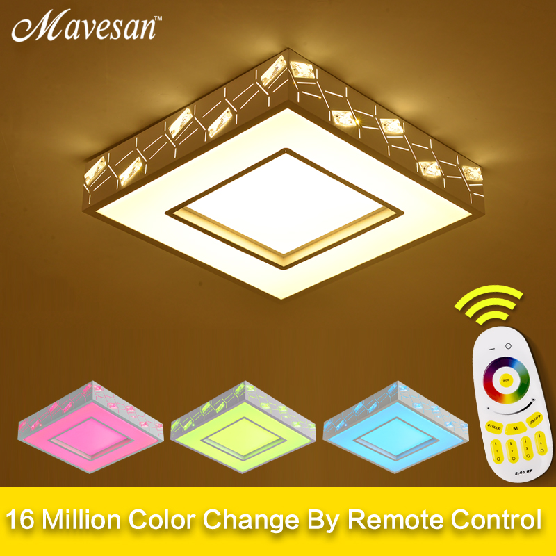 new led lights ceiling with Remote Control for living room multicolored Luminarias Para Sala Ceiling Fixtures Bedroom lighting led ceiling lights for hallways bedroom kitchen fixtures luminarias para teto black white black ceiling lamp modern