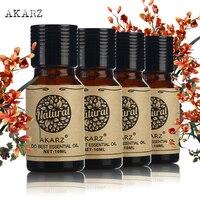 Akarz الشهيرة ماركة الخروع الجوجوبا شجرة الشاي الخزامى الزيوت الضروري لحزمة الروائح ، التدليك ، التدليك ، حمام 4 قطعة/الوحدة