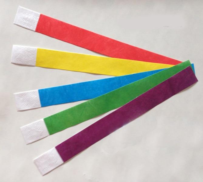 lo último 6166e 52ca1 € 7.79 15% de DESCUENTO|Pulseras de papel tyvek desechables de 100 piezas,  pulseras de papel tyvek, pulseras de tyvek para eventos-in Obsequios para  ...