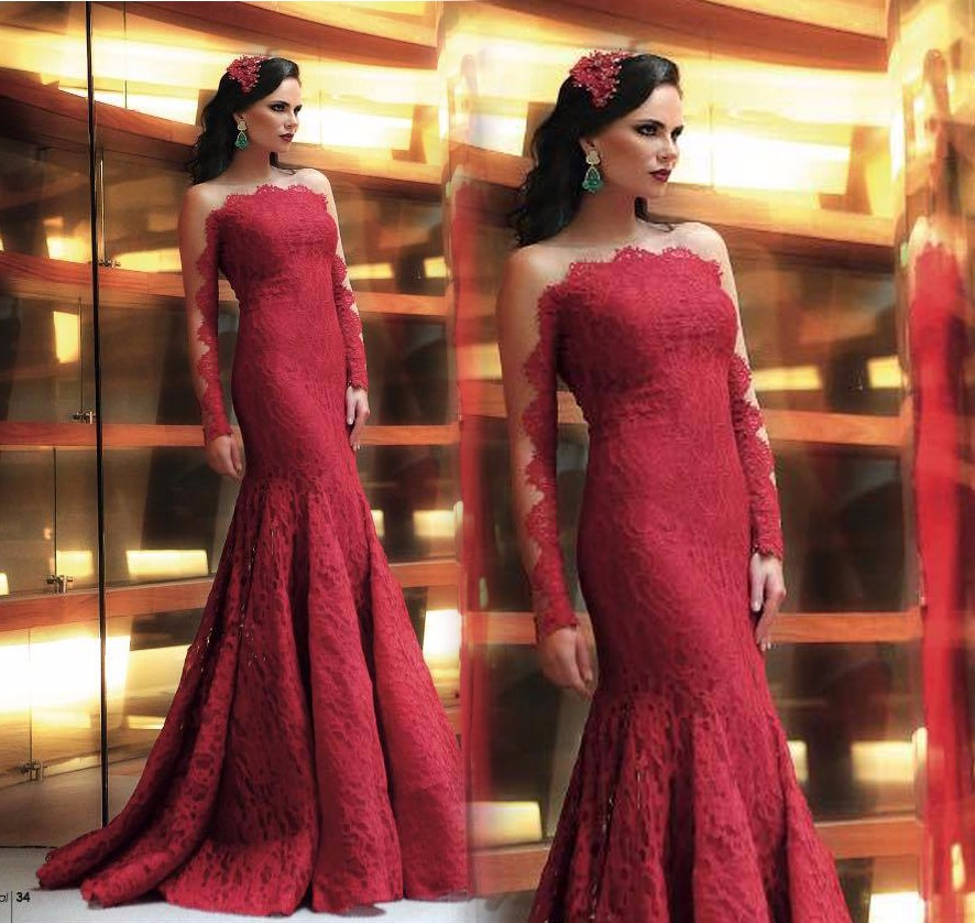Sexy-Dark-Red-Lace-Mermaid-Evening-Dresses-Sheer-Jewel-Neck-Long-Sleeves-Fully-Lined-Bodice-Formal (1)