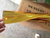 Горячее тиснение фольгой Двусторонняя золотые и серебряные цвета Горячие прессы на бумага и пластик 64 см x 120 m тепла штамповочная пленка