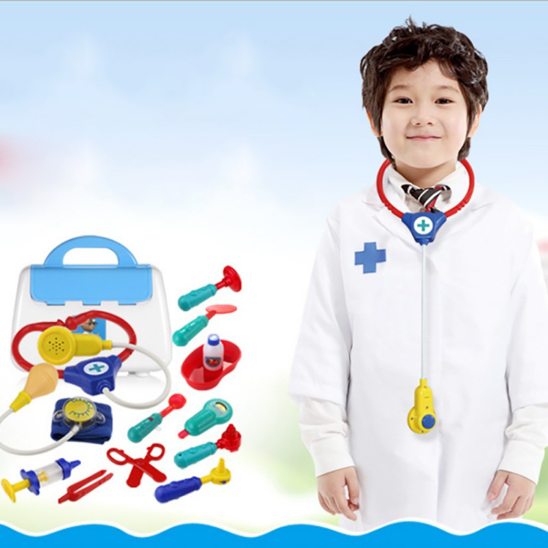 Creative Baby Toy Medicine Toys Puzzle Puzzle Simulation Medicine Box Doctor Simulated Stethoscope Toy Set New Arrival
