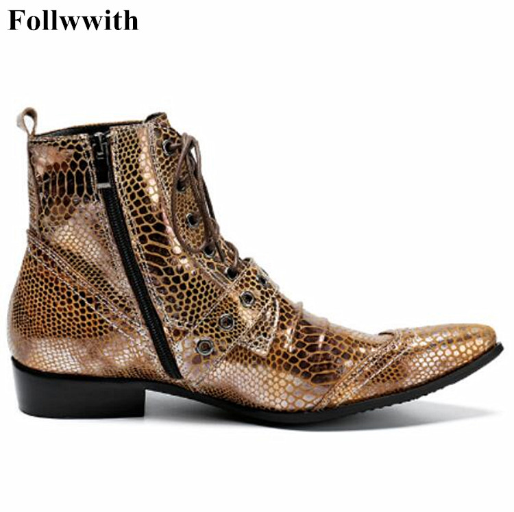 Hot Sale Men Genuine Leather Motocrycle Boots 2017 New Fashion Brand Metal Buckle Pointed Toe Mens Wedding Dress Shoes High Top hot sale mens italian style flat shoes genuine leather handmade men casual flats top quality oxford shoes men leather shoes
