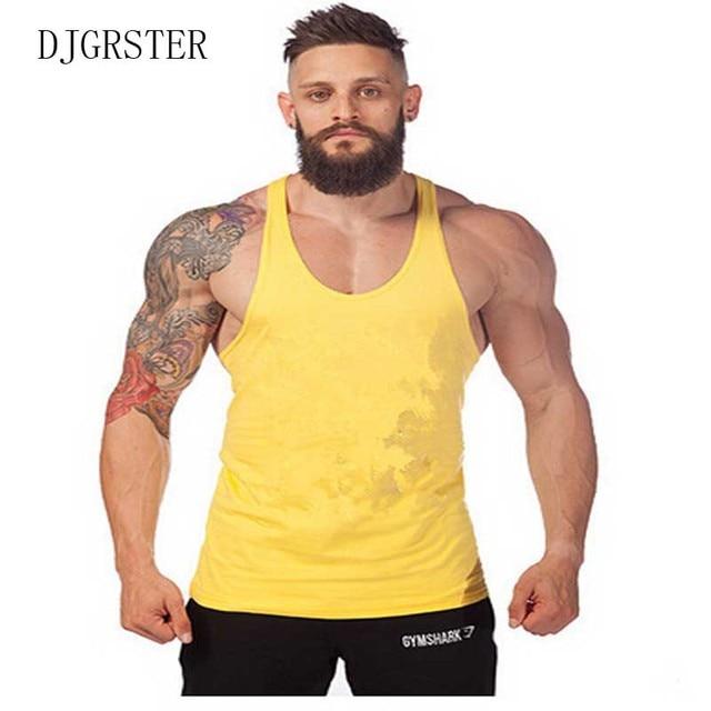 361d295221135 DJGRSTER Mens Bodybuilding Stringer Vest Fitness Muscle Shirt 100% Cotton  Sleeveless shirts Tops men-clothing Debardeur Homme
