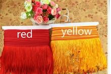 Freeshipping 10Meters/Lot 6CM , 12CM Width Polyester Tassel Fringe Trim For DIY Latin Dress African Lace Yarn Ribbon Sewing