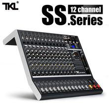 TKL SS1200 USB Professional Audio Mixer 12 Channels Sound Mixing Consoles Bluetooth With 16 Reverberation Equalizer a4 multi purpose audio mixer with bluetooth record 4 channels input mic line insert usb playback sound card small mixing console