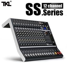 Tkl ss1200 usb professional audio mixer 12 canais som mistura consoles bluetooth com 16 reverberation equalizador