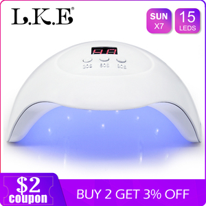Image 2 - LKE SUNX 48/54W UV Lamp LED Nail Lamp Nail Dryer For All Gels Polish With Infrared Sensing 10s/30s/60s Timer Smart touch button