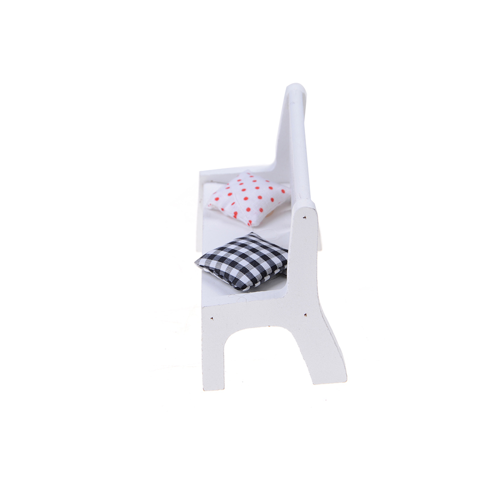 Jetting Miniature Dollhouse furniture accessories Wooden Garden Chair Outdoor Chair Park Bench Home Decoration