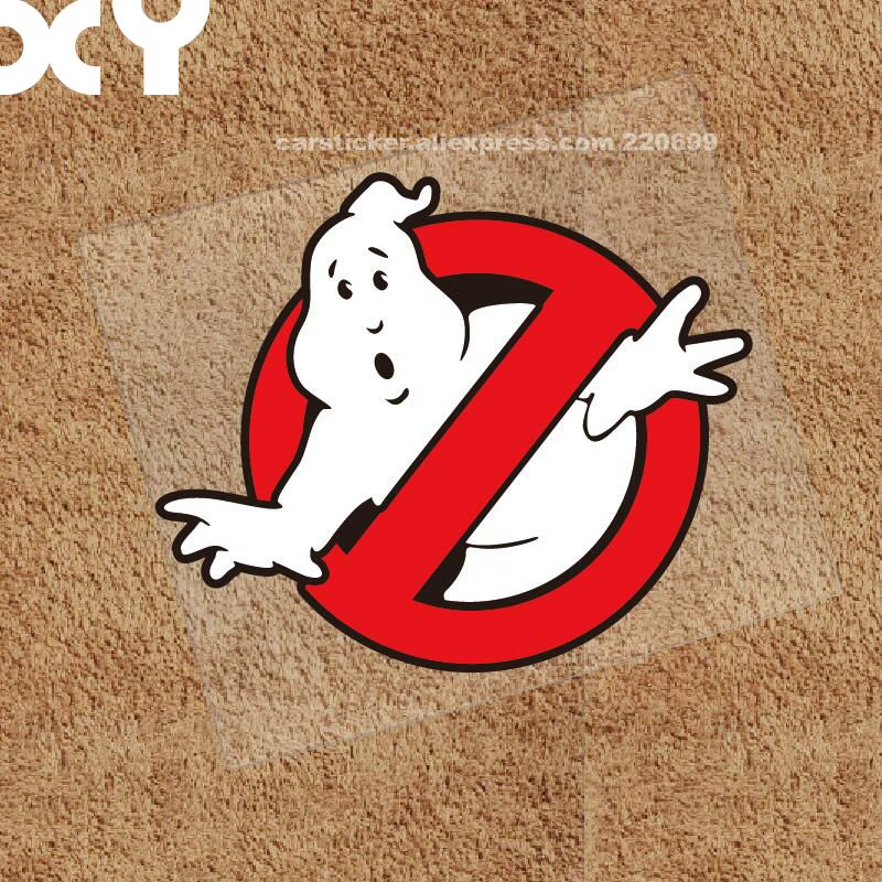 Ghostbusters Vinyl Car Window Decal Waterproof Car Stickers And Decals Reflective Sticker Drop Ship halloween decor sticker 3d transparent car back rear window decal vinyl sticker horror monsters zombie