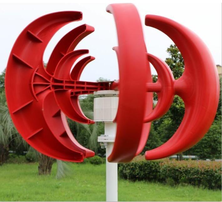 400 Вт ветротурбины 12 В 24 В 5 лезвий Малый ветряной генератор Наборы вертикальный 3 фазы переменного тока постоянный магнит ветродвигатель