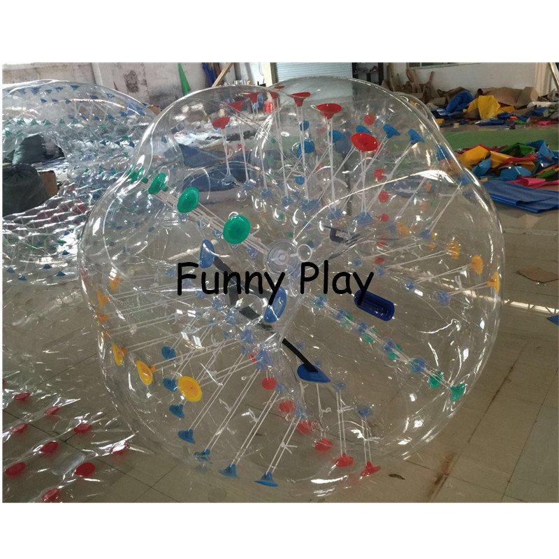 knocker zorb human hamster ball Sport PVC Air Bubble Children Play Game Air Bumper Ball Kids Body Zorb bubble Ball