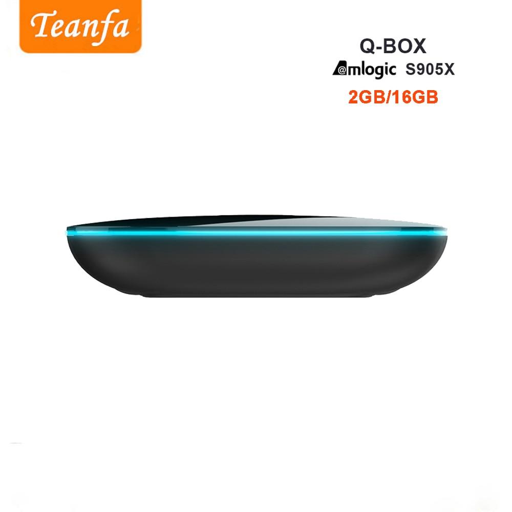 Teanfa Q BOX Kutia e sipërme 2G 16G Android 6.0 Smart TV Box S905X - Audio dhe video në shtëpi - Foto 2
