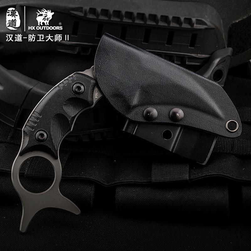 HX VÄLISKUJAD Karambit fikseeritud teraga nuga 440C titaankattega - Käsitööriistad - Foto 4