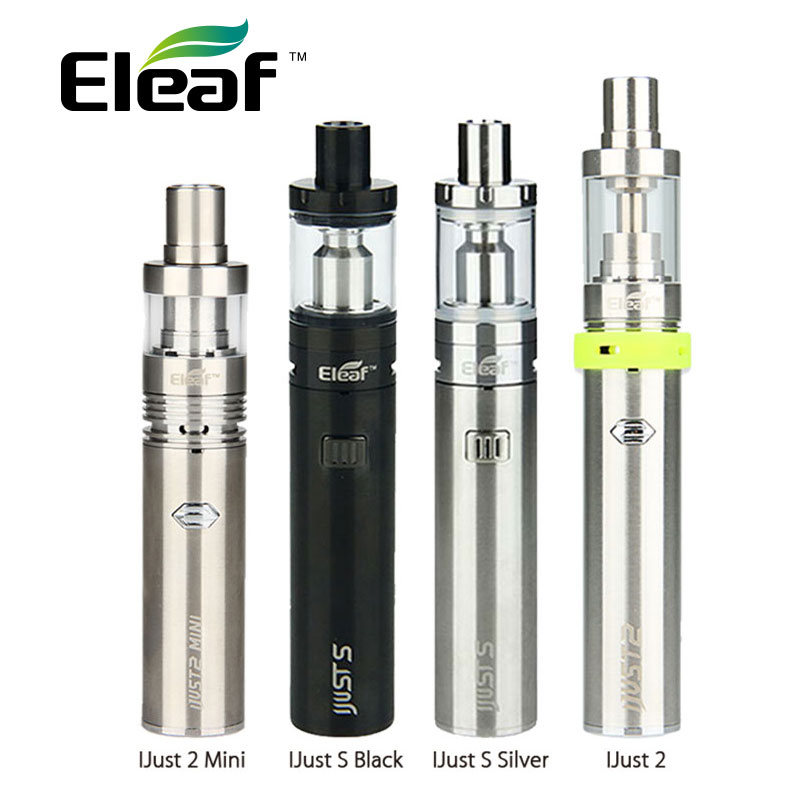 Original Eleaf ijust s Kit 3000mah vs iJust 2 Kit 2600mAh vs Just 2 Mini Kit 1100mAh Electronic Cigarette Starter Kit vs eGo Aio