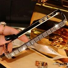Новый стиль Высокое качество роскошные побрякушки змея декор металла горный хрусталь бампера fashional телефон чехол для iPhone 5 5S