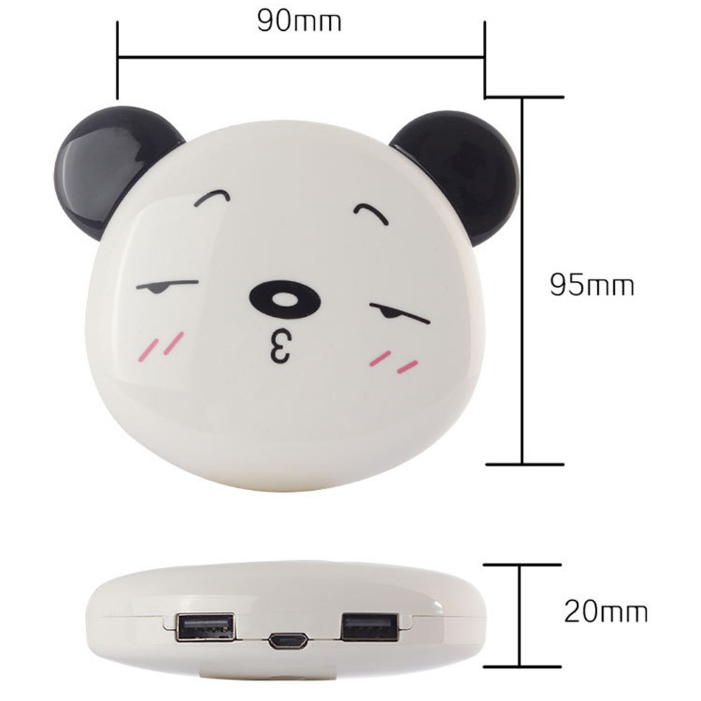 New Cute Panda 12000mAh Portable USB
