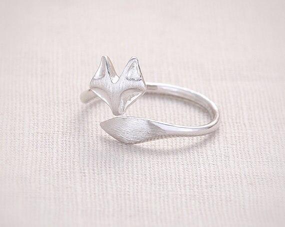 Mode fox kopf ring, gesicht und schwanz draht zeichnung verarbeitung ...