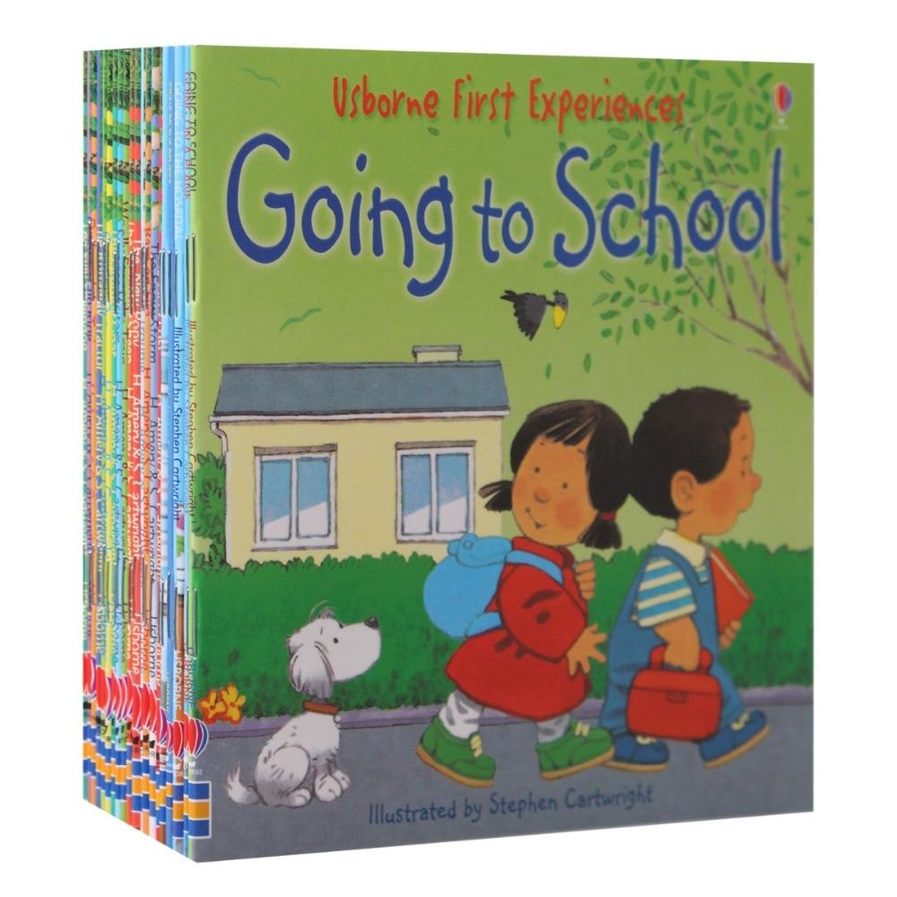 20Books/Set 15x15cm kids Usborne Picture Books Children Baby famous Story English Child Book Farmyard Tales Story Eary education farmyard tales sticker book