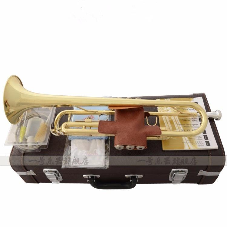 High Quality Trumpet YTR-2335S instrument B flat trumpet Grading preferred New trumpet professional performance music shipping free shipping 2017 new us baja trumpet instrument lt190s 99 down b tune instrument