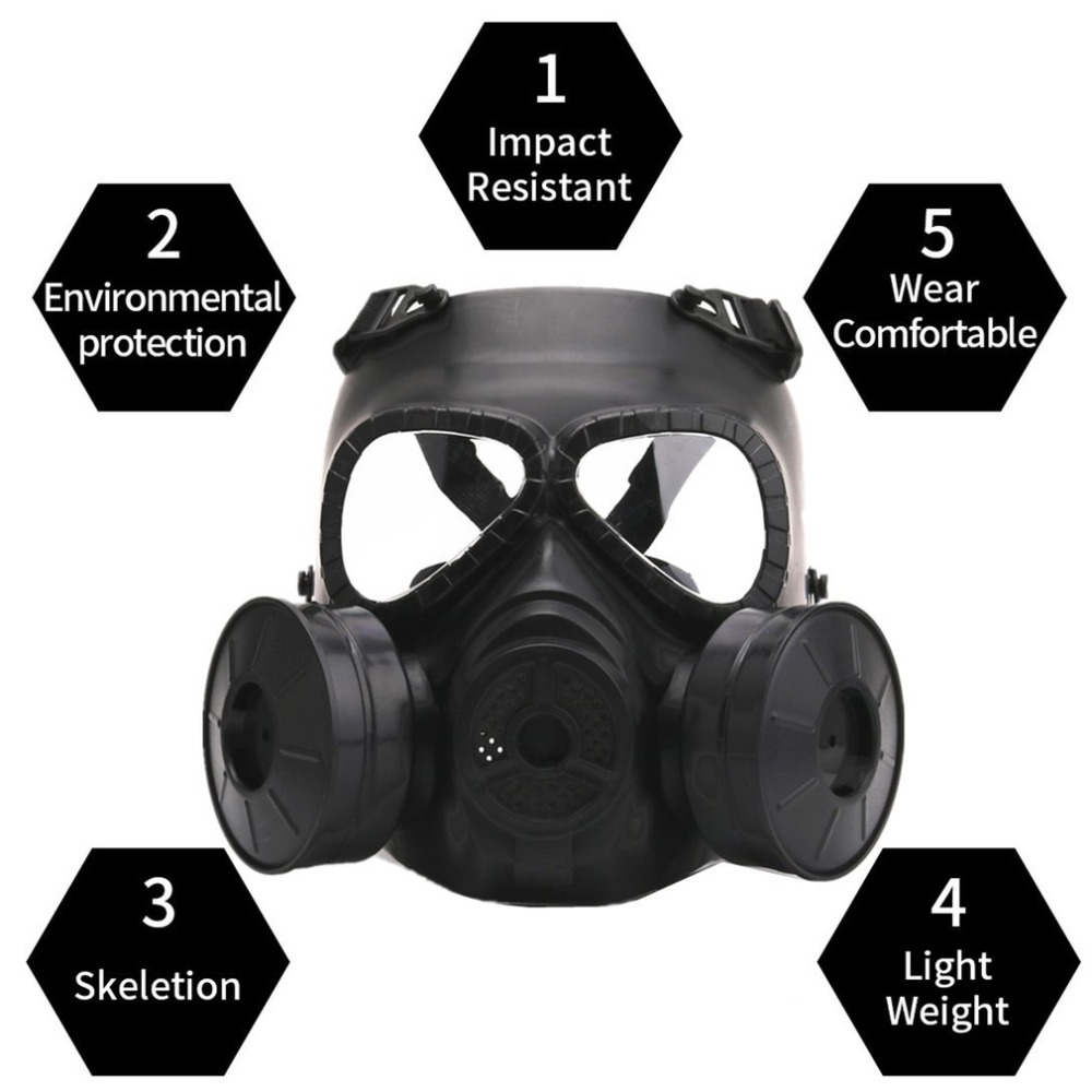 Gas Mask Breathing Mask Creative Stage Performance Prop for CS Field Equipment Cosplay Protection Halloween Evil adult men s tangled flynn rider cosplay boots shoes halloween cosplay prop custom made