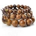 Аутентичные Африканские деревянные браслет бусины 12-20 мм древесины сандалового дерева четки браслет оптовые мужчин ювелирные изделия упругой линии 0314