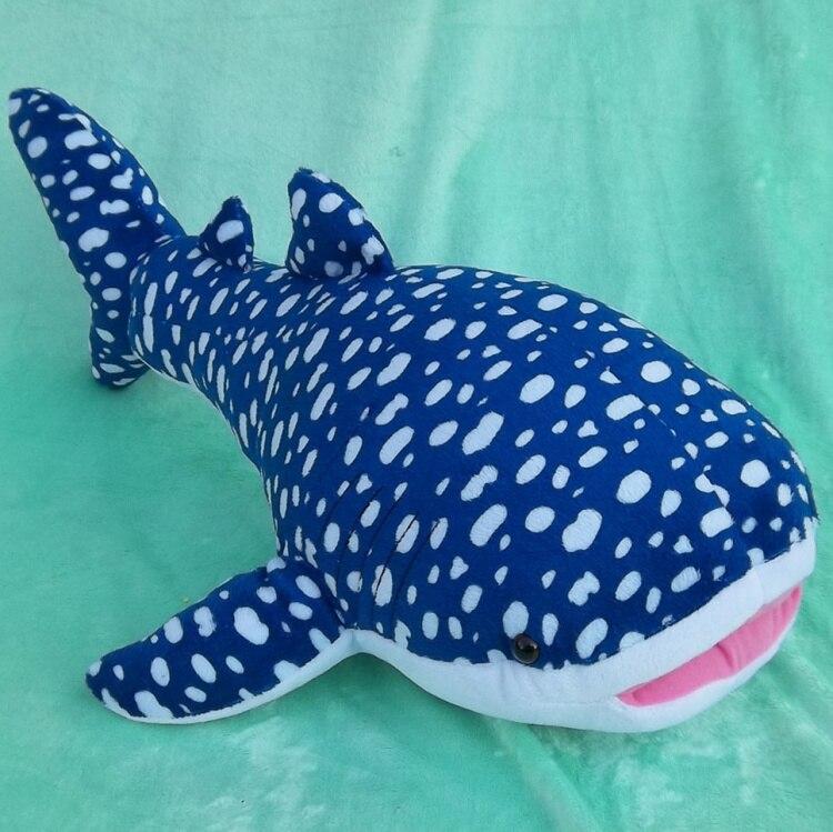 Jouet créatif en peluche animal de mer baleine bleue peluche requin poupée cadeau environ 60 cm 2721