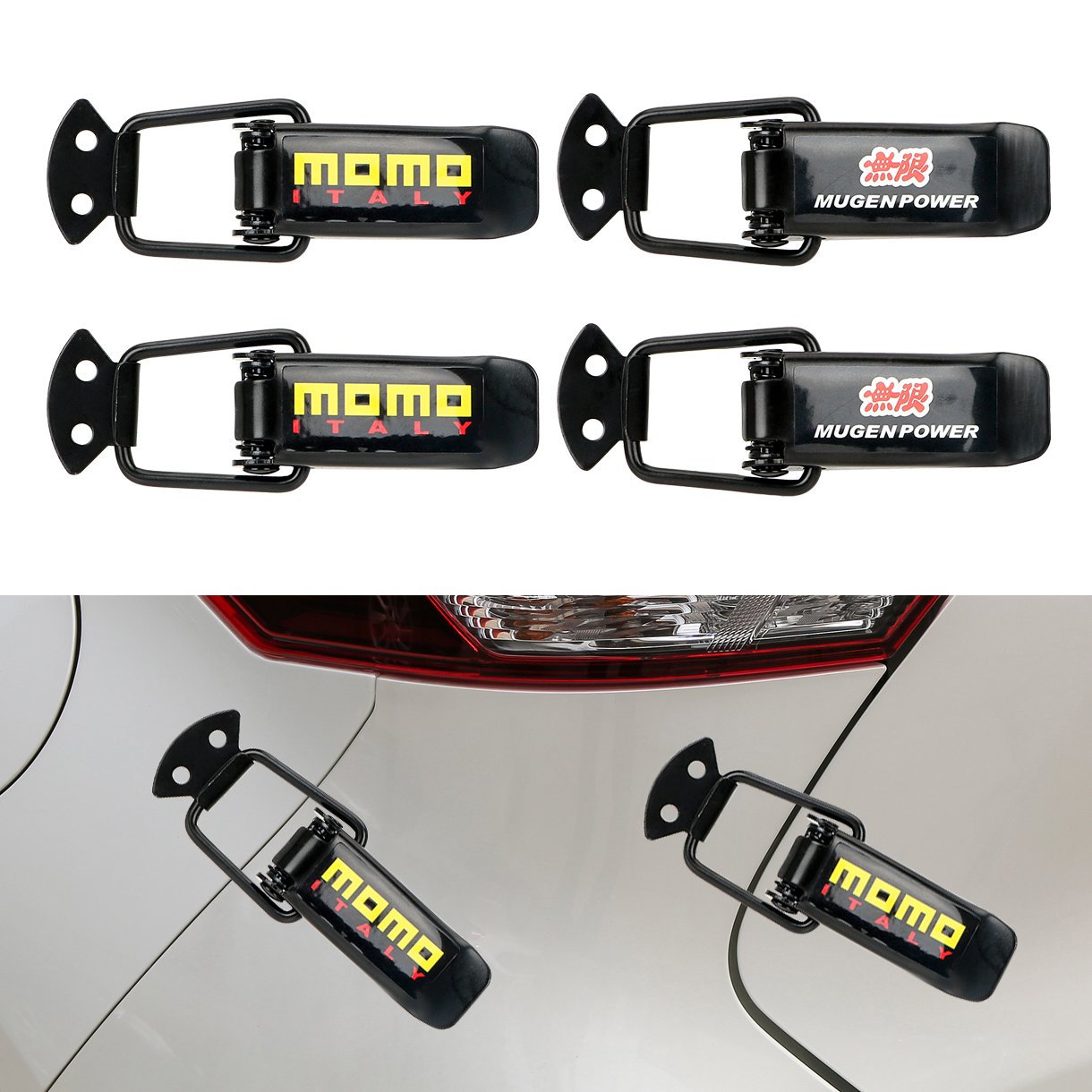 Car Bumper Security Hook Auto Accessories Lock Clip Kit for Racing Quick Release Fasteners Car Truck Hood Clip Hasp 2 Pieces