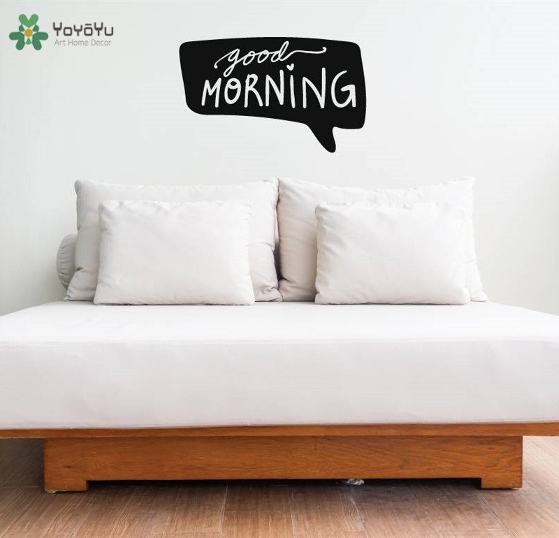 YOYOYU Wall Decal Modern Design Quotes Good Morning Vinyl Wall Stickers Removable Interior Art Mural Home Decoration Decor CY568