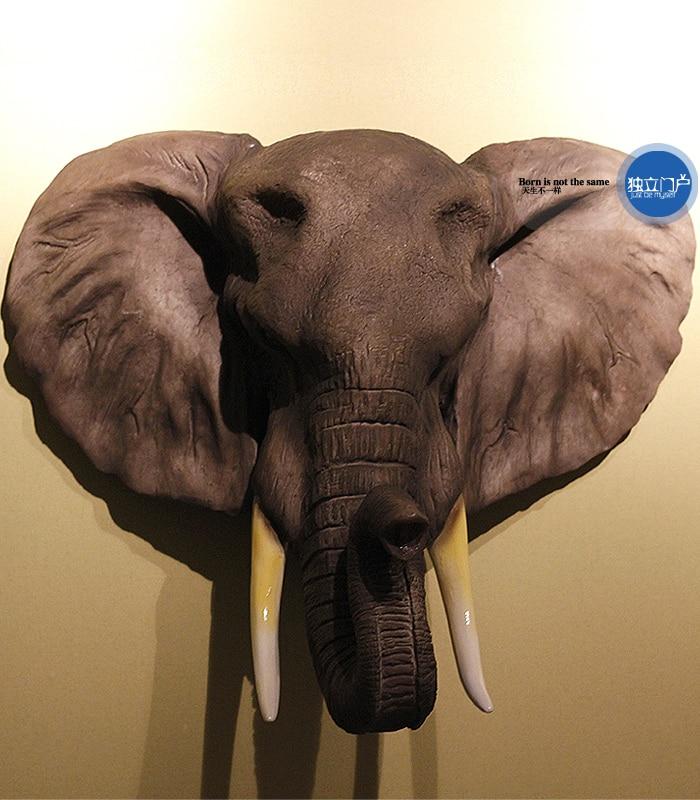 resin African elephant head wall decor crafts elephant ... - photo#15