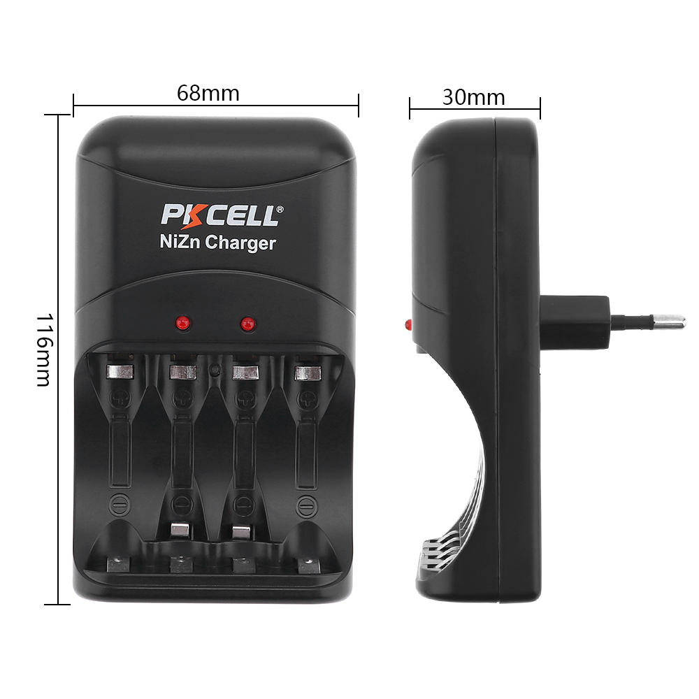 Image 2 - 1pcs Original low price PKCELL Ni Zn AA/AAA Battery Charger EU  Plug four Charger for Ni Zn AA/AAA Rechargeable Batteries-in Rechargeable Batteries from Consumer Electronics