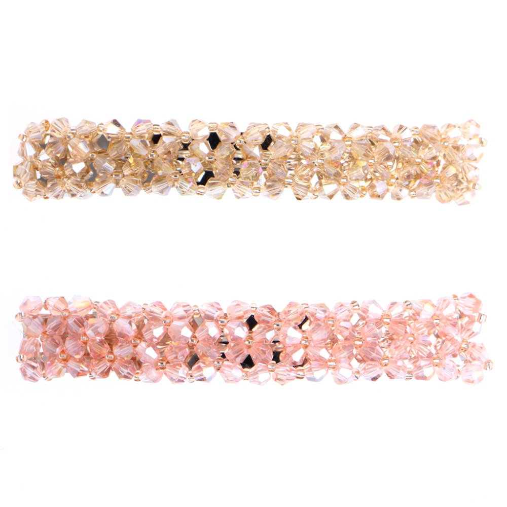 Women Girls Bling Headwear Rhinestone Hair Clip Barrette Hairpin Wedding Party Hot women girl bohemia bridal camellias hairband combs barrette wedding decoration hair accessories beach headwear
