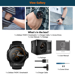 "Image 5 - [Free TWS Earphones] Zeblaze THOR 5 Dual System Hybrid Smartwatch 1.39"" AOMLED 454*454px 2GB+16GB 8.0MP Front Camera Smart watch"