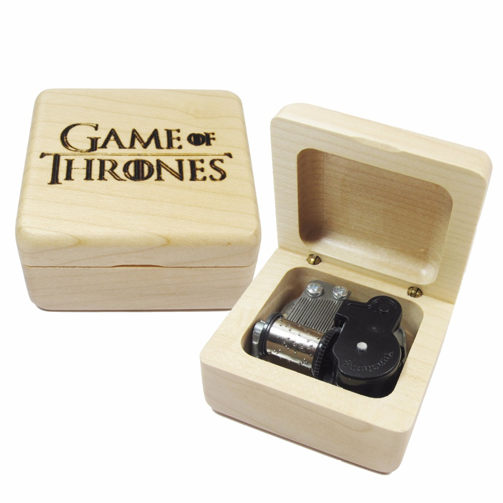 Handmade Wooden game of thrones <font><b>music</b></font> box special souvenir gift box, birthday gifts free shipping
