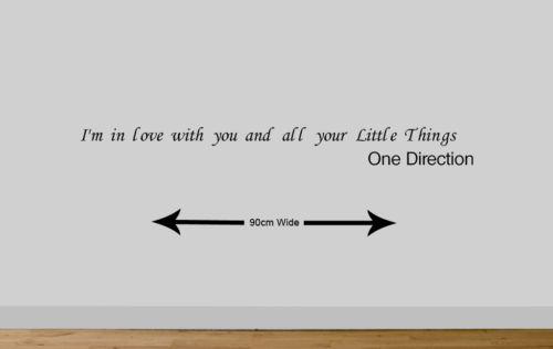 Aliexpress.com : Buy Free shipping ONE DIRECTION vinyl wall quote ...