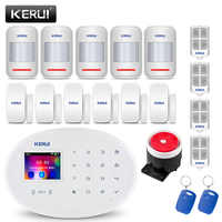 KERUI W20 433MHZ Wireless WiFi GSM Security Burglar Alarm System Phone APP RFID Card Control For Home with 2.4 inch Touch Panel