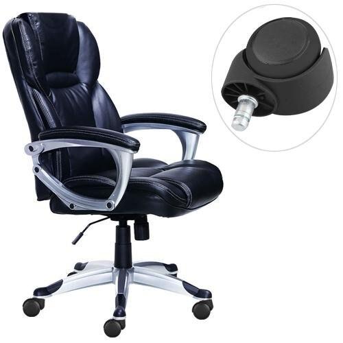 Clos 5 x substituição escritório cadeira do computador haste rodízios giratórios rodas preto-1