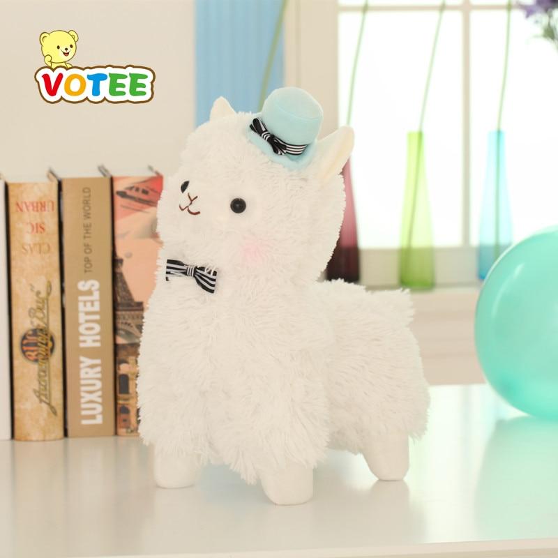 35cm Alpacasso Mud Horse 3 Styles Standing Topper Hat Alpaca Plush Toy Lovely Stuffed Animal Sheep Kids Doll Birthday Gift
