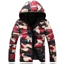 2016 brand men's clothing winter jacket with hoodies outwear Warm Coat Male Solid men outwear Men casual Warm Down Jacket XL